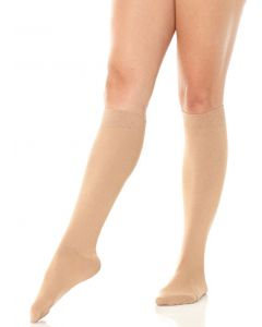 Satiny finish knee high