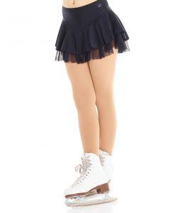 Shiny nylon and mesh skirt