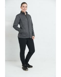 Women fleece jacket with zipper