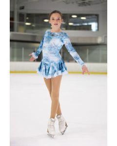 Born to Skate mesh detailed figure skating  dress