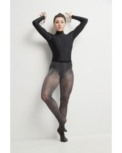 Footed microfiber tights