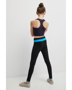 Legging with contrasting waistband