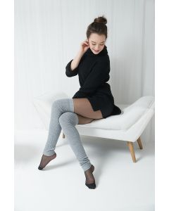 Cable pattern Merino wool Legwarmers 23 inches