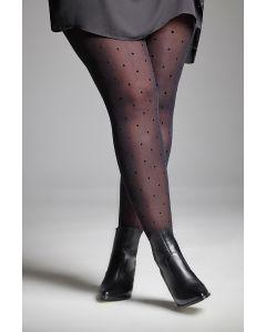 Polka dots motif tights