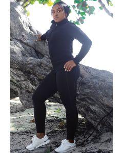 Black Tactel leggings