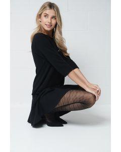Argyle motif tights
