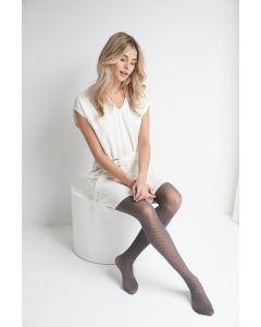 Herringbone motif tights