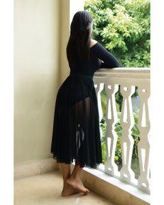 Mesh pull-on skirt