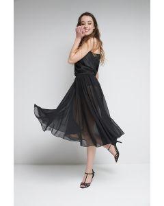 Pull-on chiffon skirt