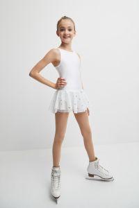 Glitter figure skating dress