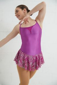 Glitter mesh full figure skating skirt