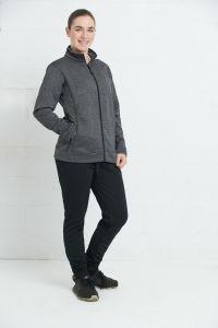 Women fleece jacket with zipper