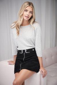 Cashmere & Cotton 3/4 sleeve shirt