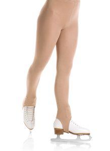Stirrup Natural satiny figure skating tights