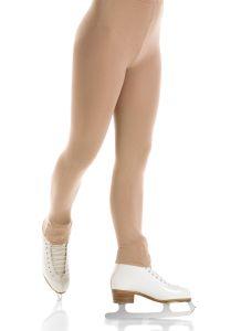 Footless Natural matte figure skating tights