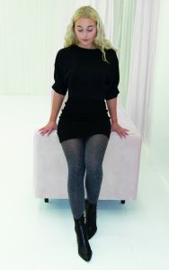 Heather microfiber tights
