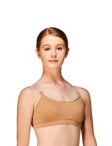 Clear straps bra