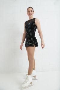 Sleeveless glitter velvet dress
